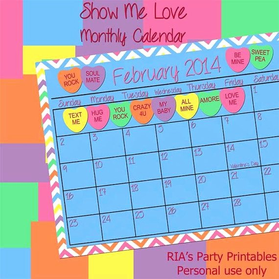 Show Me A Monthly Calendar Lovely 33 Best Conversational Hearts Show Me Love Images On