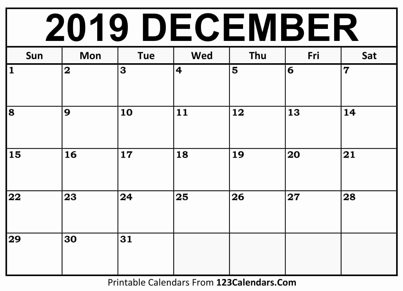 Show Me A Monthly Calendar Lovely Printable December 2018 Calendar Templates 123calendars
