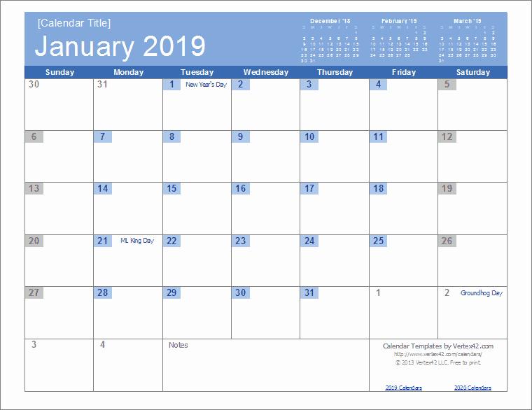Show Me A Monthly Calendar Luxury 2019 Calendar Templates and