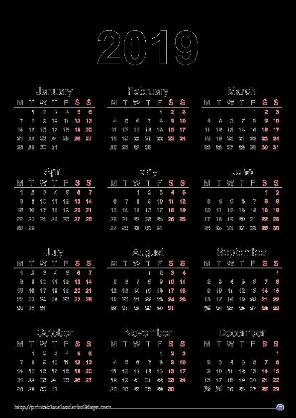 Show Me A Monthly Calendar Unique 2019 Calendar Printable
