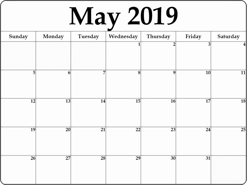 Show Me A Monthly Calendar Unique Download May 2019 Calendar Excel Word Pdf