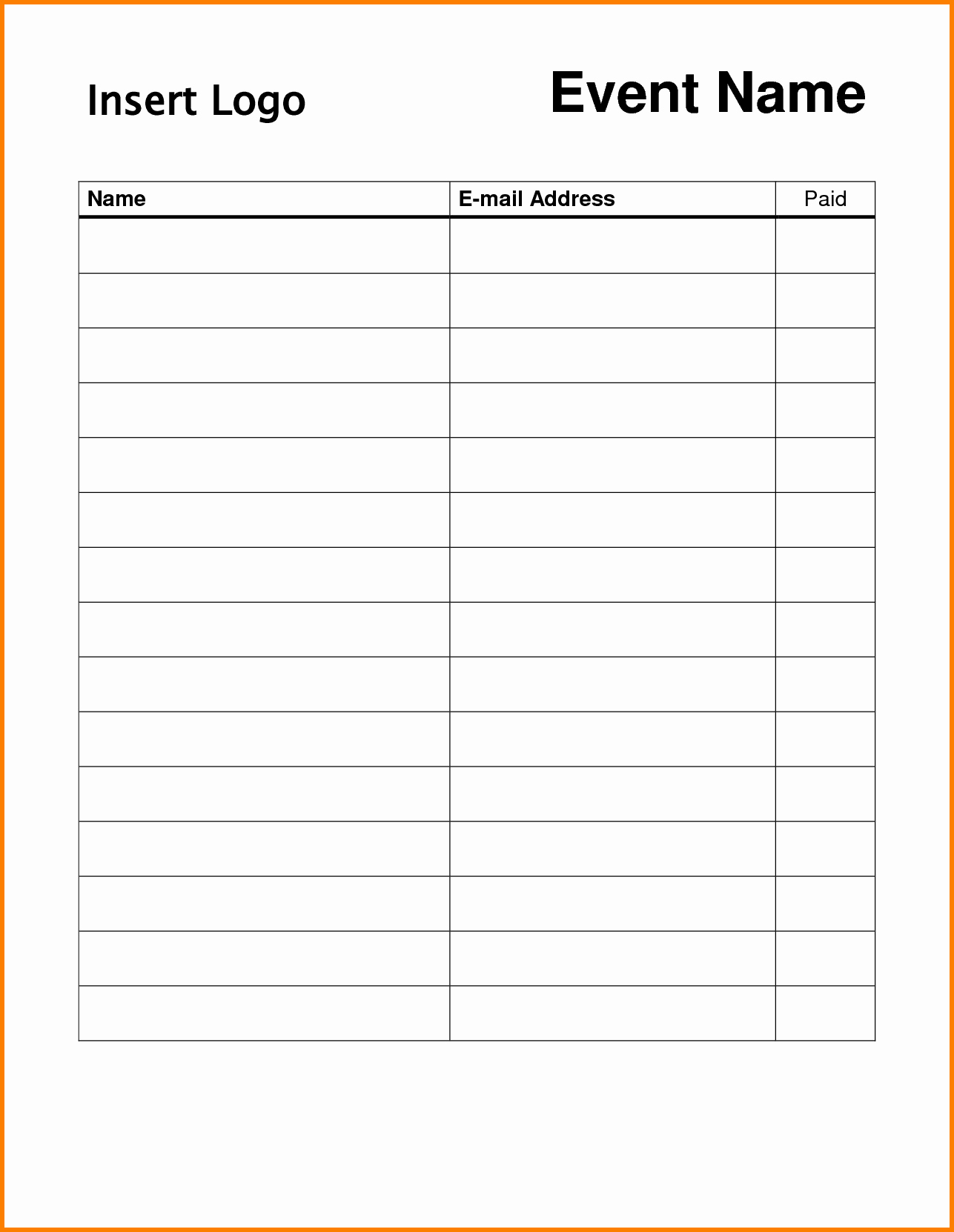 "Sign In Sheet Template Free Lovely Search Results for ""free Sign Up Sheet Template Printable"