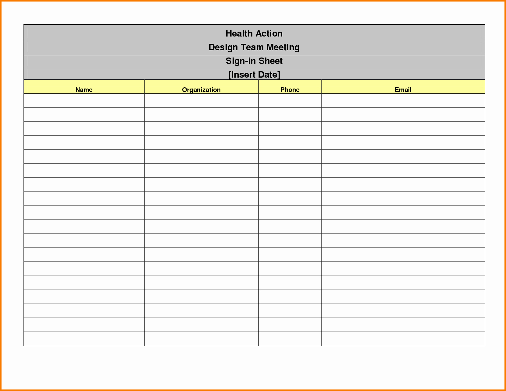 Sign In Sheet Template Free Luxury event Sign In Sheet Template