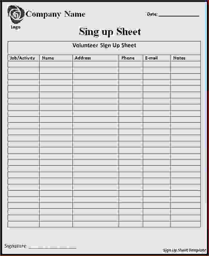 Sign In Sheet Template Free Unique 7 Sign In Sheets Template
