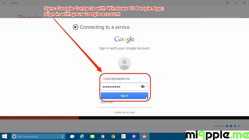 Sign In to Your Account Lovely How to Sync Google Contacts with Windows 10 People App