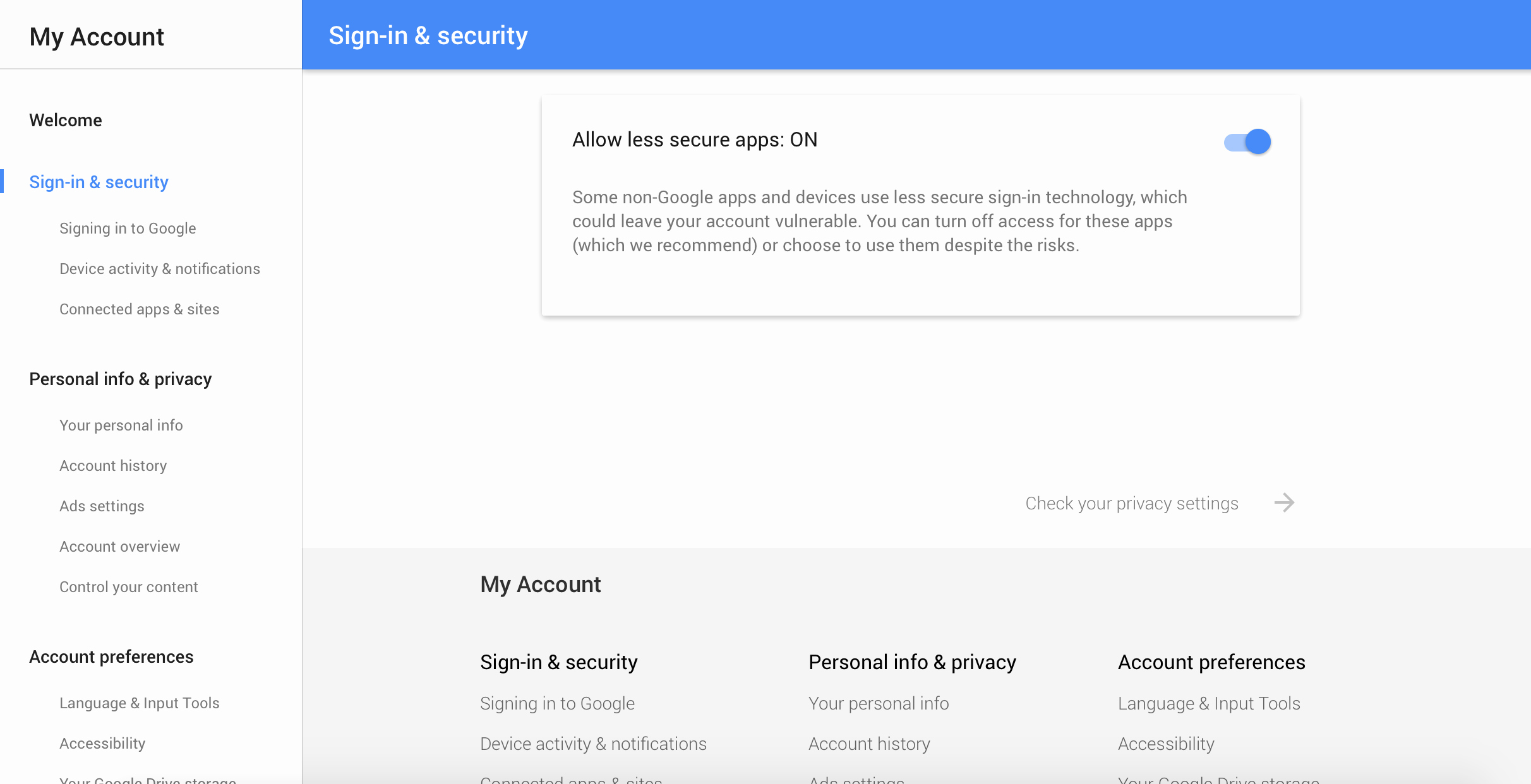 Sign In to Your Account New andres Cheah Google Allowing Less Secure Apps to Access