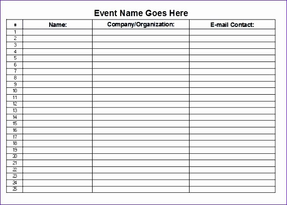 Sign Off Sheet Template Excel Beautiful 12 Sign F Sheet Template Excel Exceltemplates