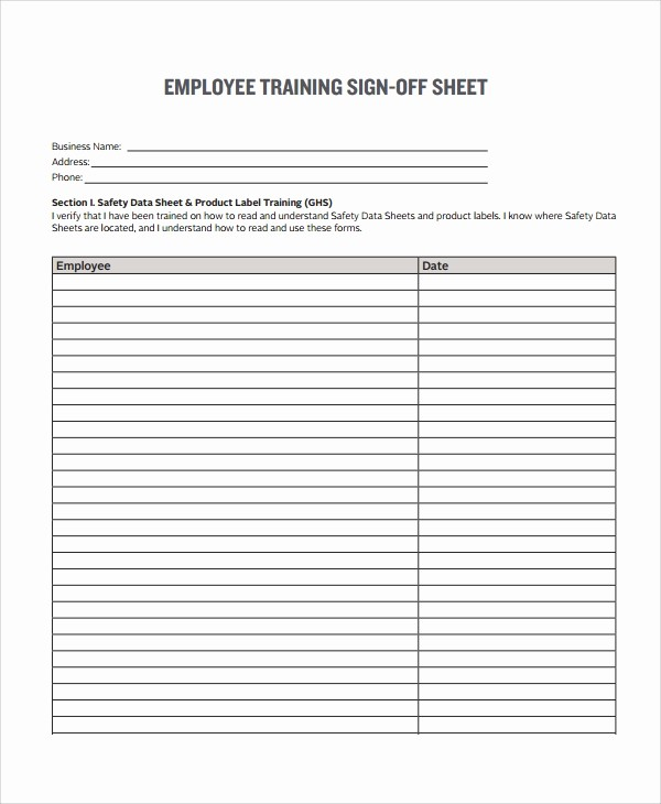 Sign Off Sheet Template Excel Unique 8 Sample Sign F form Templates – Pdf