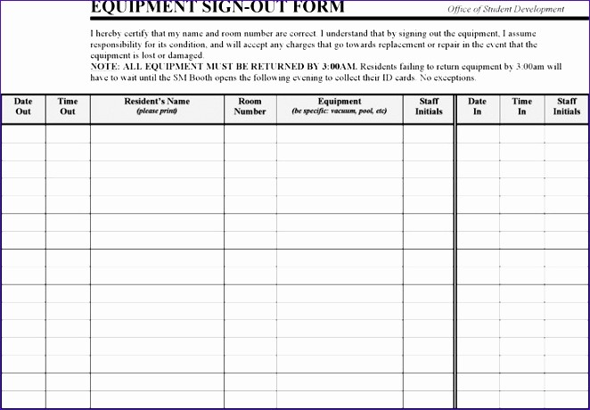 Sign Out Sheet Template Excel Unique 6 Student attendance Sheet Template Excel Exceltemplates