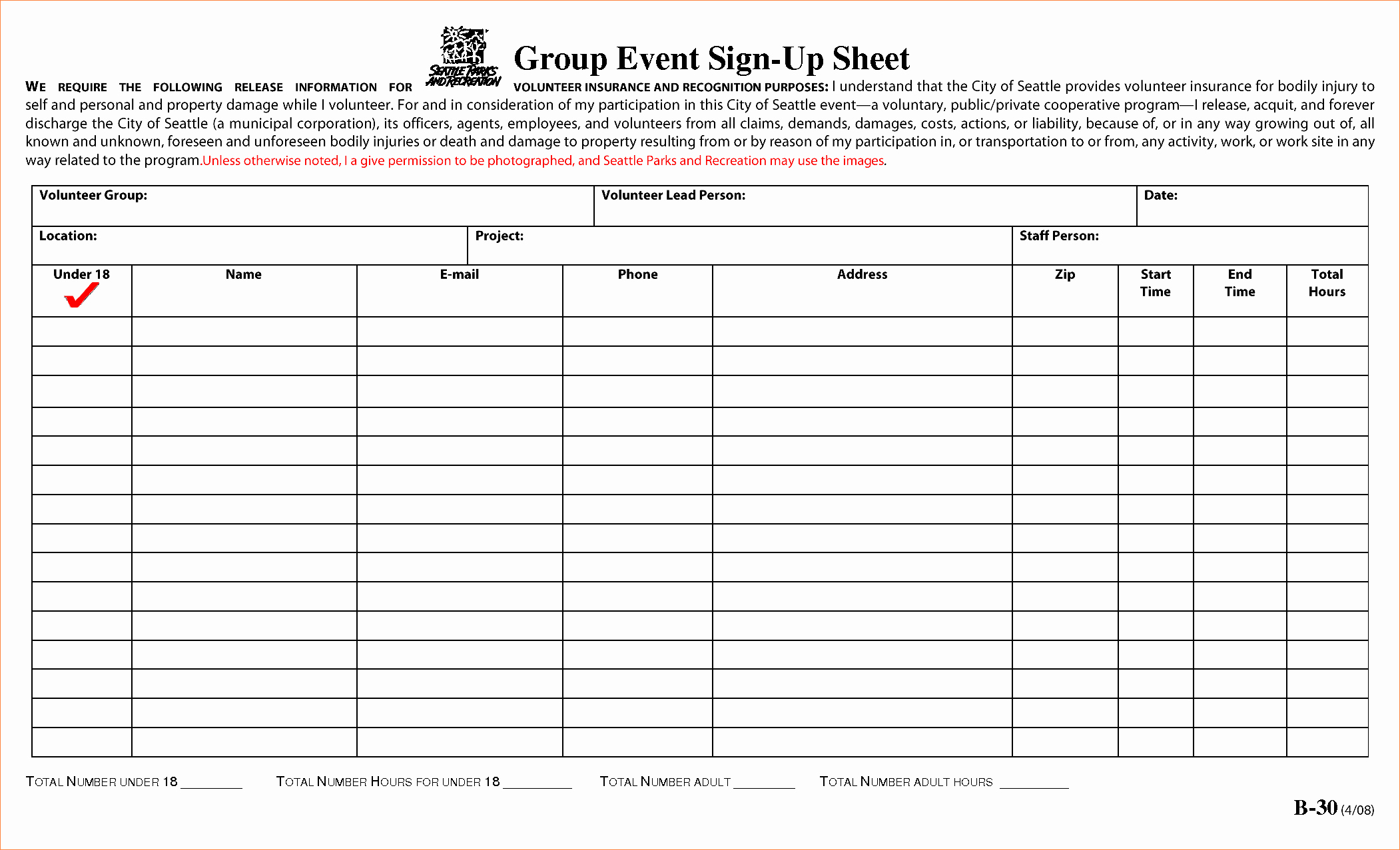 Sign Up Sheets for events Best Of 4 event Sign Up Sheet Template