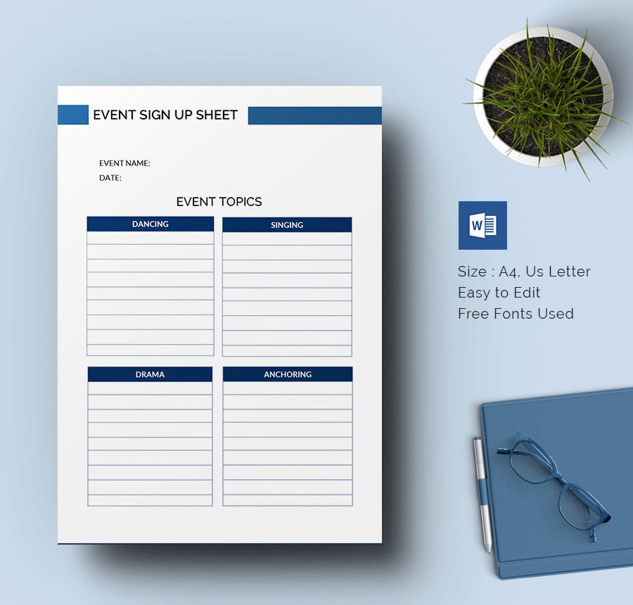 Sign Up Sheets for events Inspirational Sign Up Sheets 64 Free Word Excel Pdf Documents