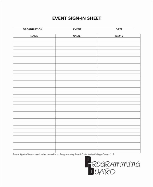 Sign Up Sheets for events Lovely 45 Sheet Templates
