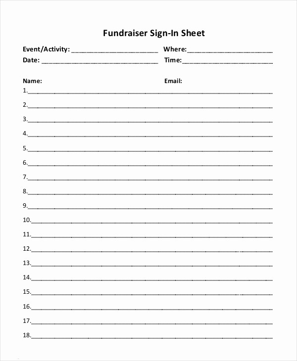 Sign Up Sheets for events Lovely event Sign In Sheet Template 16 Free Word Pdf