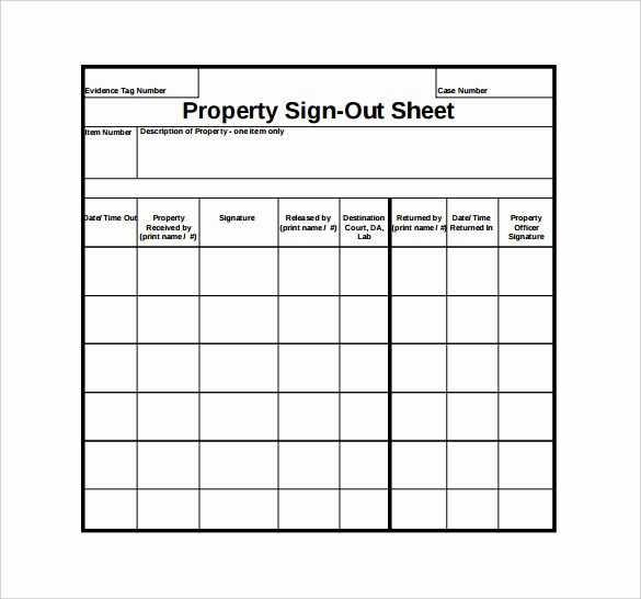 Signing In and Out Template Beautiful Sign Out Sheet Template 14 Free Word Pdf Documents
