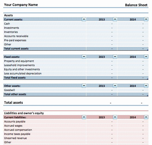 Simple Balance Sheet format Excel Fresh Download Simple Balance Sheet Template Microsoft Excel