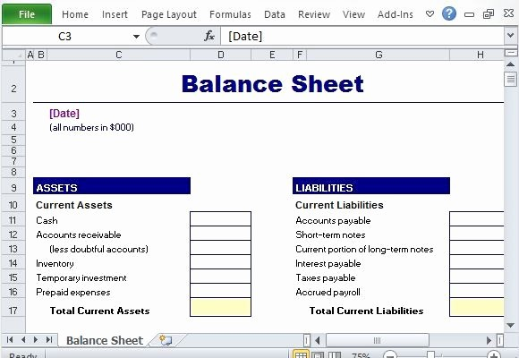 Simple Balance Sheet format Excel Fresh Simple Balance Sheet Maker Template for Excel