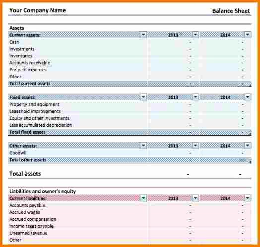 Simple Balance Sheet format Excel Lovely Simple Balance Sheet Template