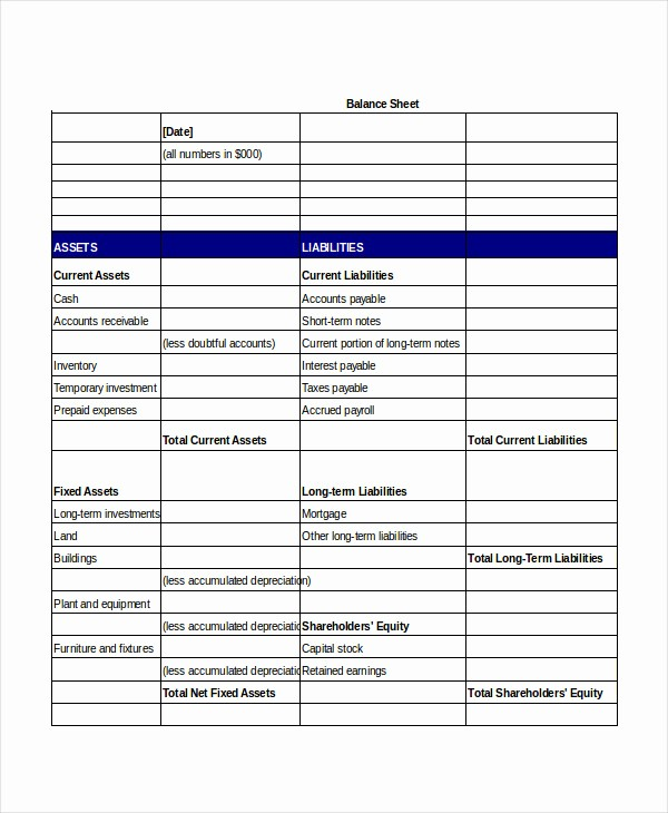 Simple Balance Sheet format Excel Luxury Simple Balance Sheet 20 Free Word Excel Pdf Documents