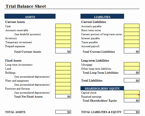 Simple Balance Sheet format Excel New 9 Balance Sheet formats In Excel Excel Templates