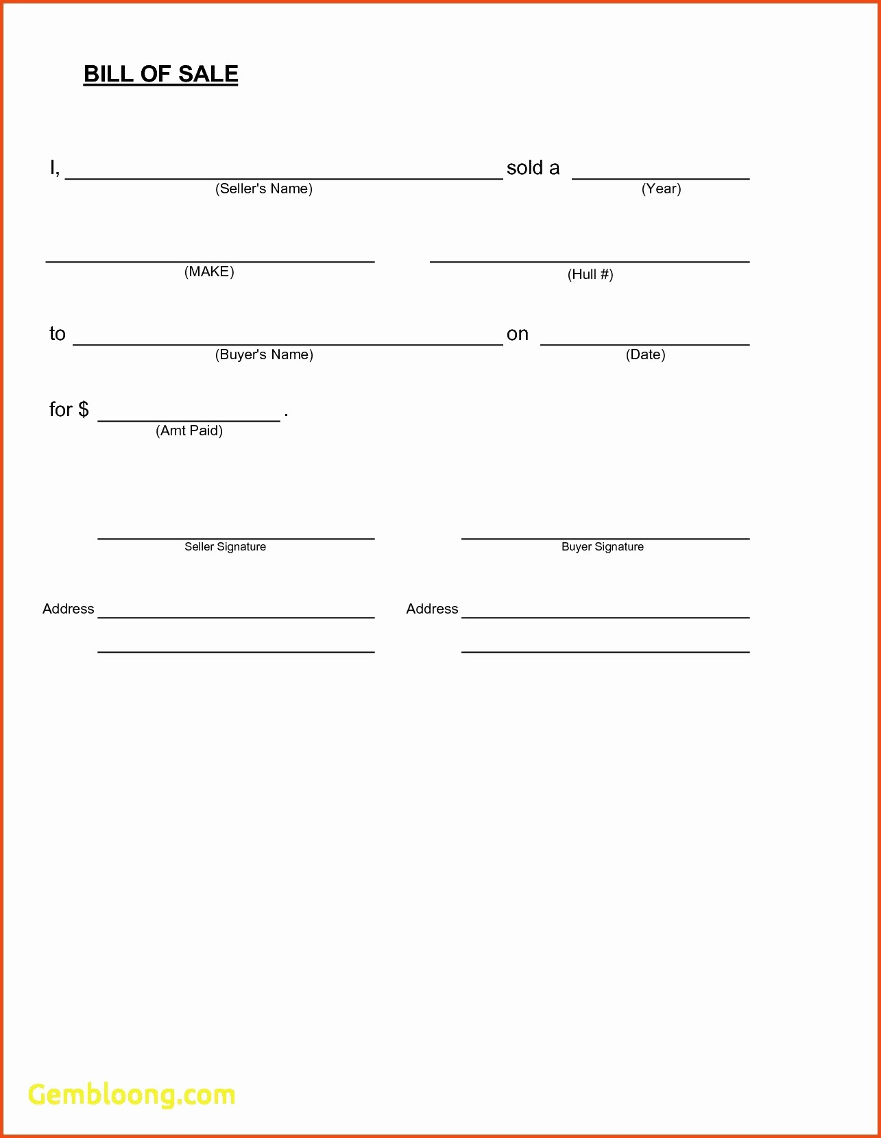 Simple Bill Of Sale Automobile Lovely Simple Bill Sale Template New Inspirational Vehicle