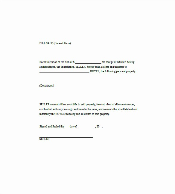Simple Bill Of Sale Example Luxury General Bill Of Sale – 14 Free Word Excel Pdf format