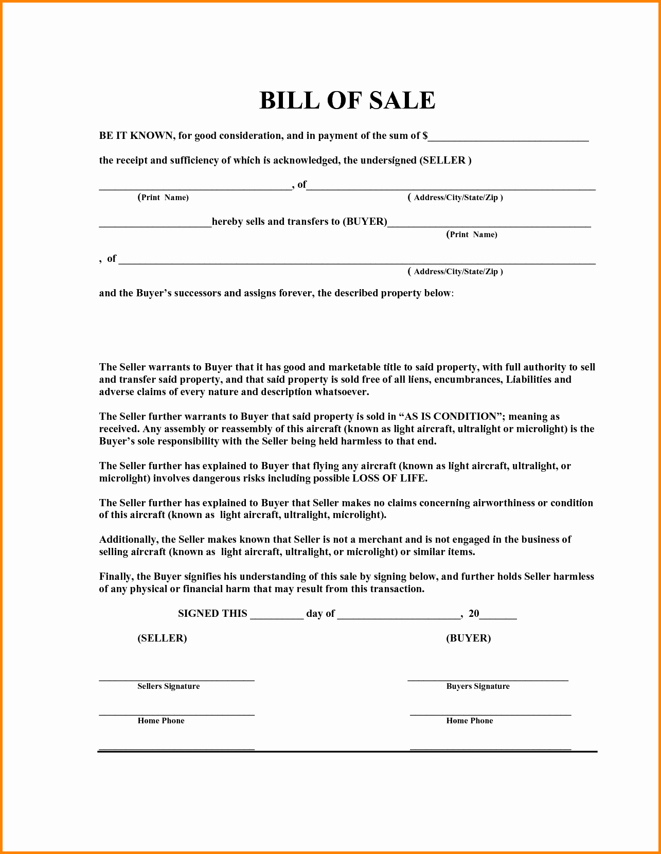 Simple Bill Of Sale forms Best Of 6 Simple Bill Of Sale Pdf