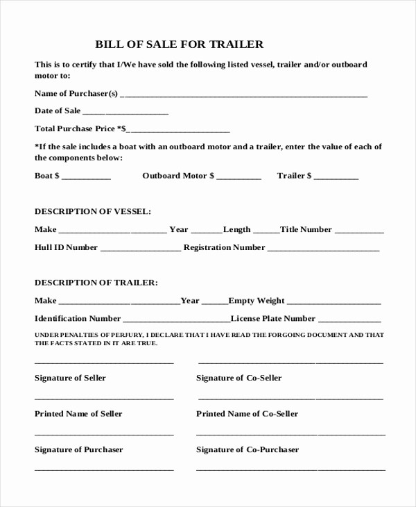 Simple Bill Of Sale forms Luxury Simple Bill Of Sale form Sample 9 Free Documents In Pdf