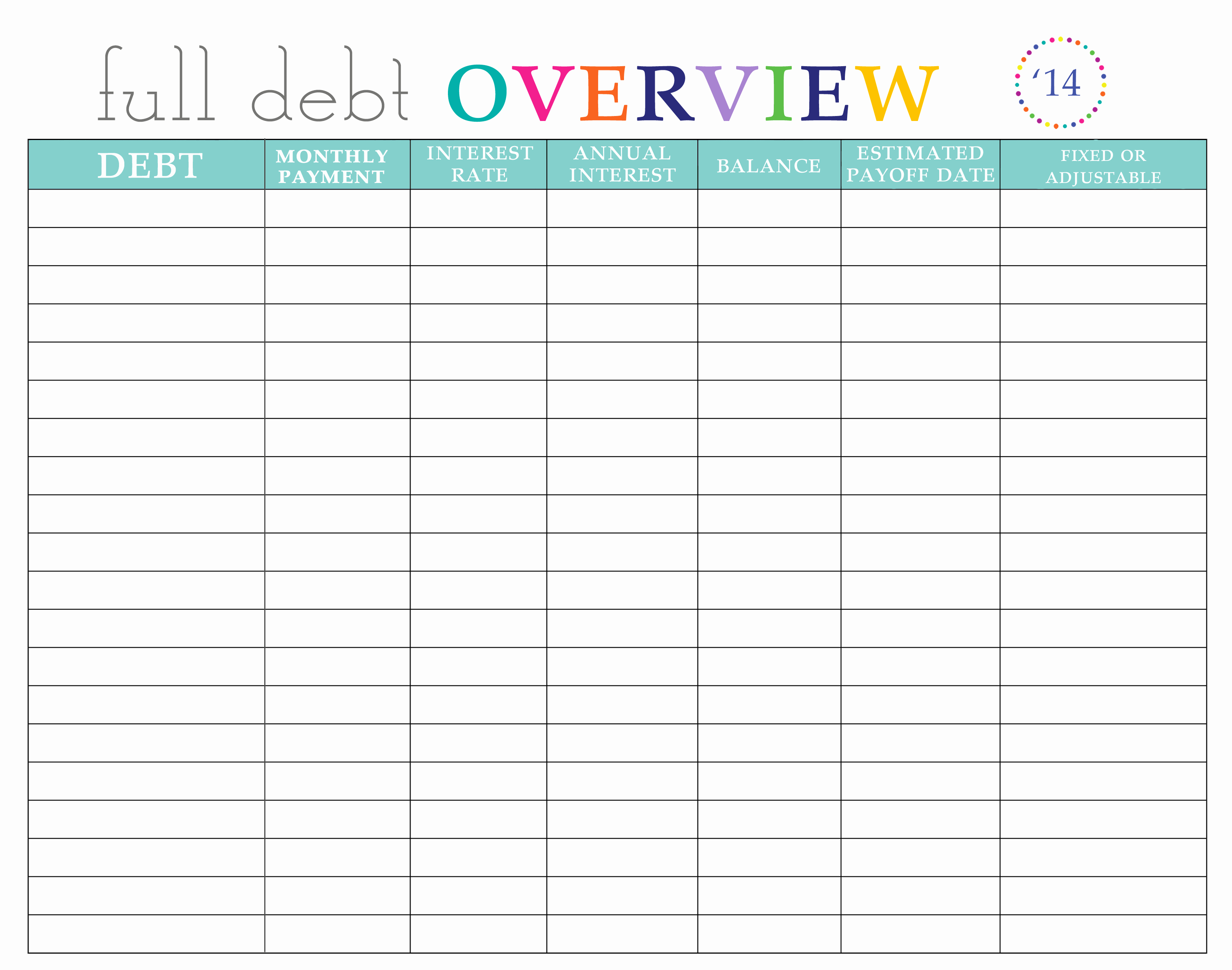 Simple Debit Credit Excel Spreadsheet Lovely Paying Off Debt Worksheets