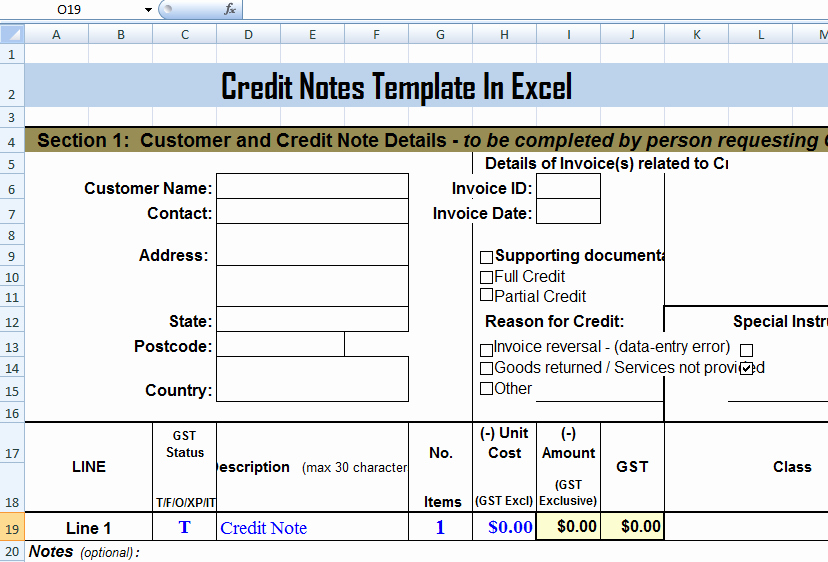 Simple Debit Credit Excel Spreadsheet Unique Credit Notes Template In Ms Excel format