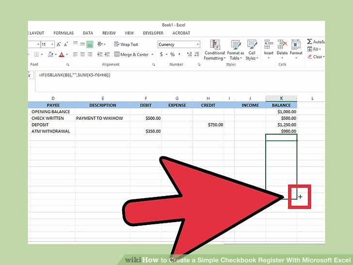 Simple Debit Credit Excel Spreadsheet Unique How to Create A Simple Checkbook Register with Microsoft Excel