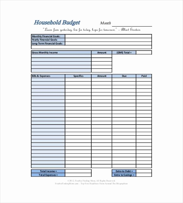 Simple Household Budget Template Free Beautiful Basic Household Bud Template 10 Household Bud