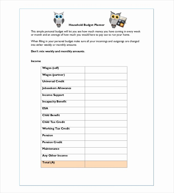 Simple Household Budget Template Free Best Of 10 Household Bud Templates – Free Sample Example
