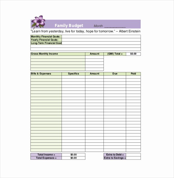Simple Household Budget Template Free Inspirational 8 Family Bud Templates – Free Sample Example format