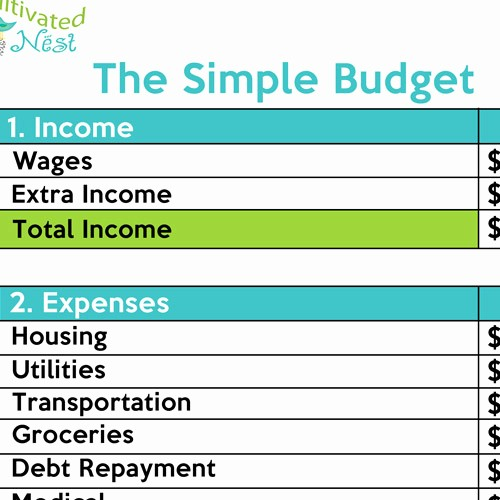 Simple Household Budget Template Free Lovely How to Make A Simple Bud