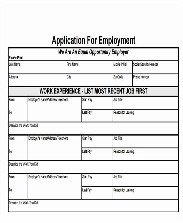 Simple Job Application Template Free Elegant 49 Job Application form Templates