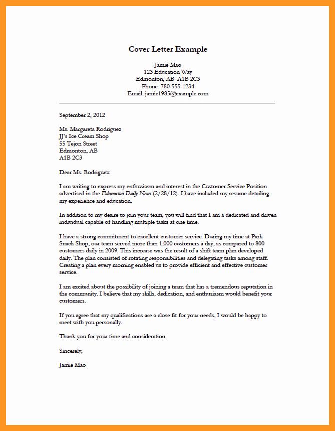 Simple Job Cover Letter Sample Best Of Cover Letter for Applying for A Job