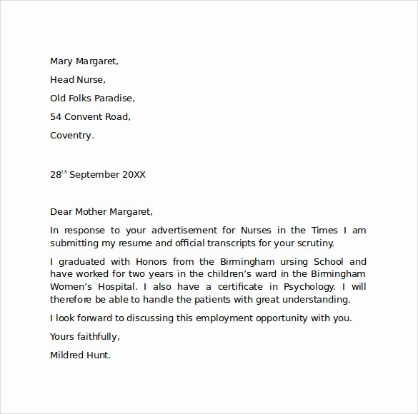 Simple Job Cover Letter Sample Inspirational 10 Employment Cover Letter Templates – Samples Examples