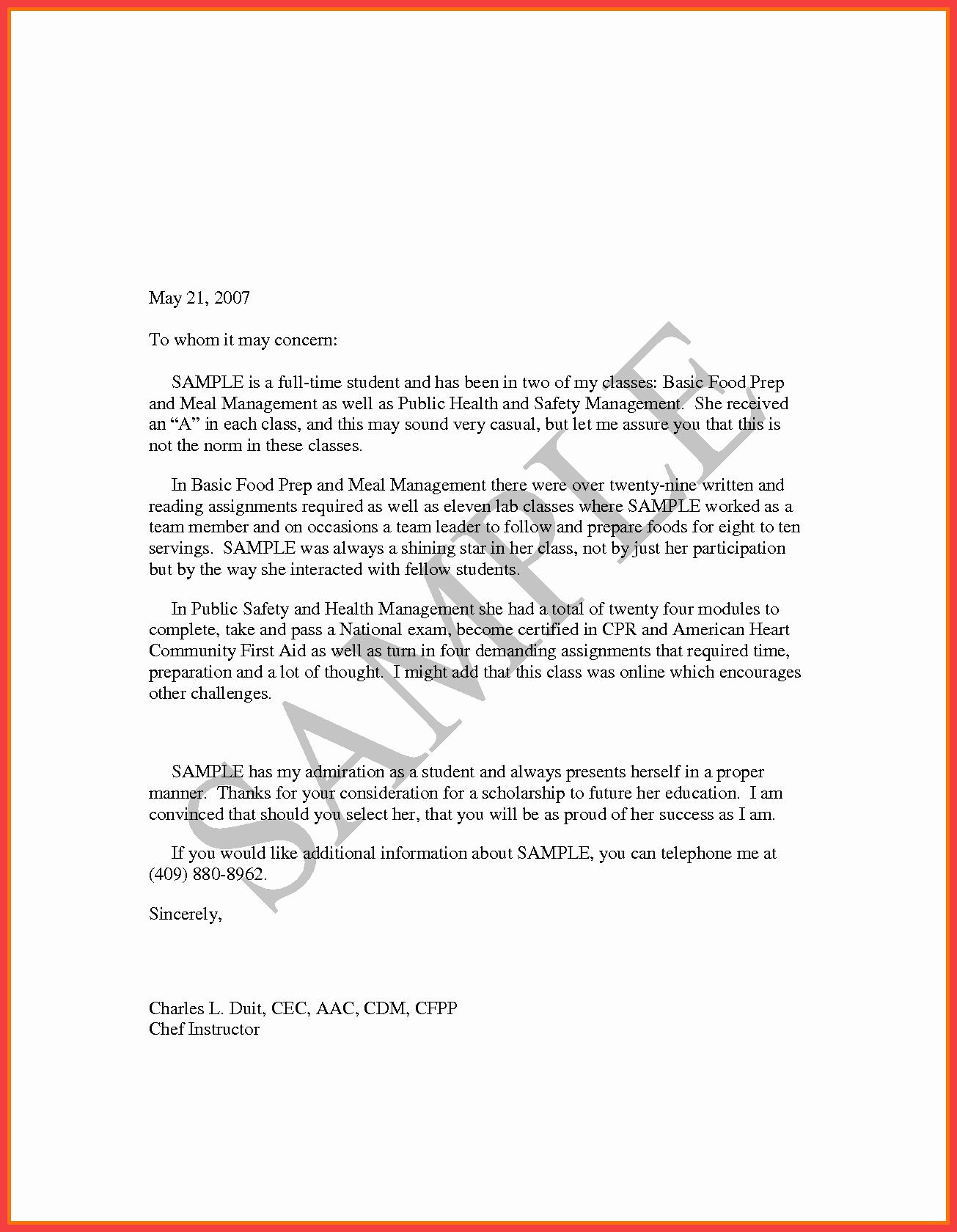 Simple Letter Of Recommendation Sample Inspirational Pilot Re Mendation Letter