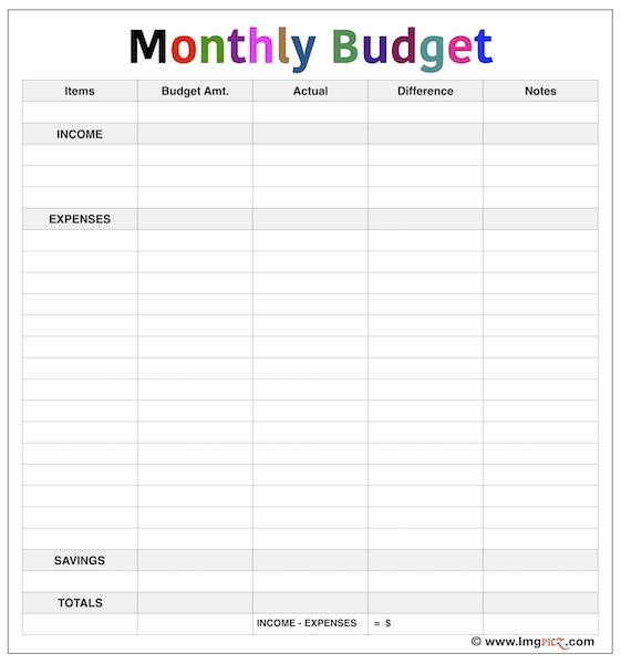 Simple Monthly Budget Template Excel Beautiful Simple Monthly Bud Template