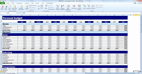 Simple Monthly Budget Template Excel Best Of Free Personal Bud Template for Excel