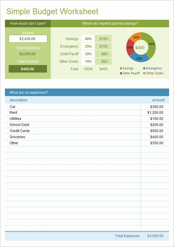 Simple Monthly Budget Template Excel Fresh 12 Bud Samples