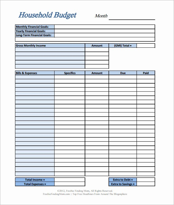 Simple Monthly Household Budget Template Awesome 11 Home Bud Samples