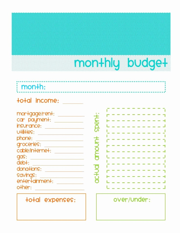 Simple Monthly Household Budget Template Fresh Simple Bud Template Printable