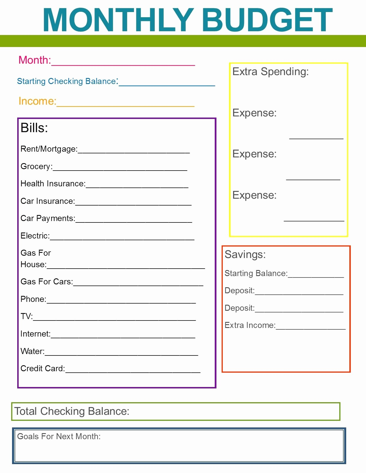 Simple Monthly Household Budget Template Inspirational Monthly Family Bud Great Habit to Start for the New
