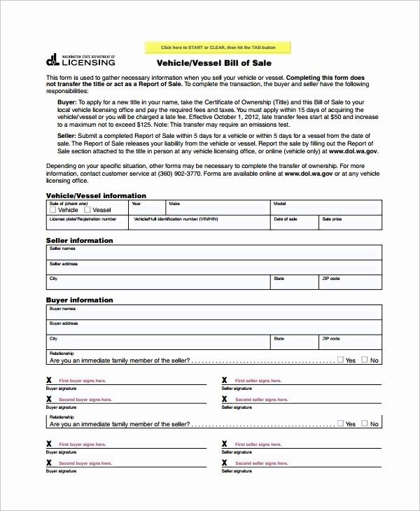 Simple Motorcycle Bill Of Sale Elegant Sample Motorcycle Bill Of Sale 7 Free Documents