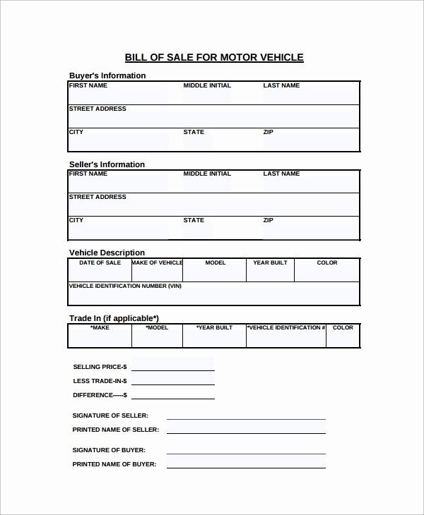 Simple Motorcycle Bill Of Sale Fresh Sample Motorcycle Bill Of Sale 7 Free Documents
