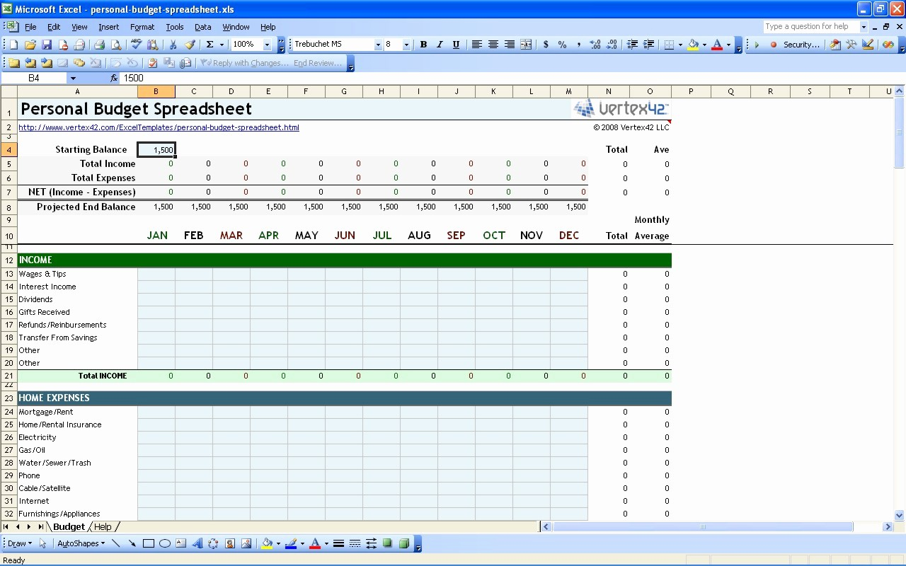 Simple Personal Budget Template Excel Awesome Free Personal Bud Spreadsheet Template Excel Monthly