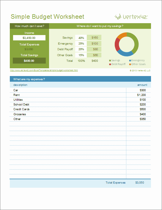 Simple Personal Budget Template Excel Best Of Free Excel Bud Template Collection for Business and
