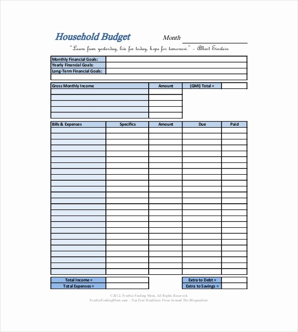 Simple Personal Budget Template Excel Inspirational 10 Household Bud Templates – Free Sample Example