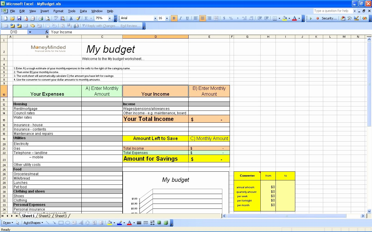 Simple Personal Budget Template Excel Inspirational 15 Free Personal Bud Spreadsheet – Page 12 – Excel